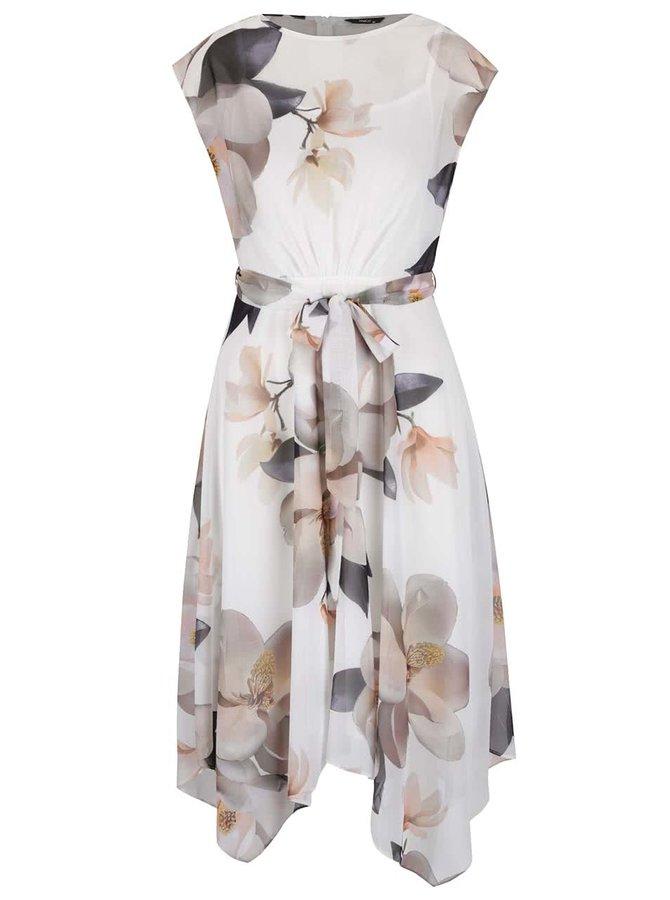 Krémové květované šaty M&Co