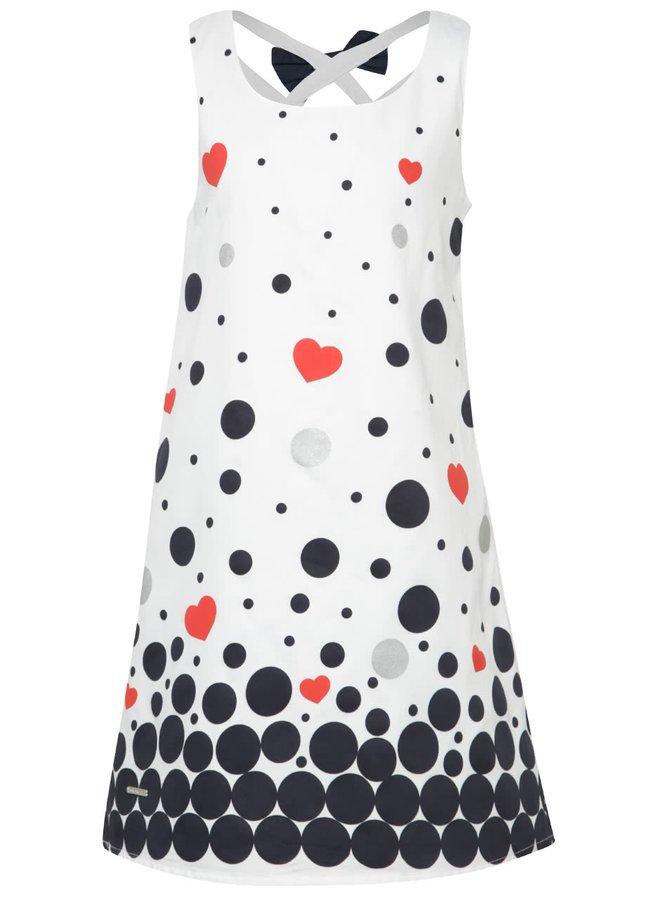 Bílé holčičí vzorované šaty Bóboli