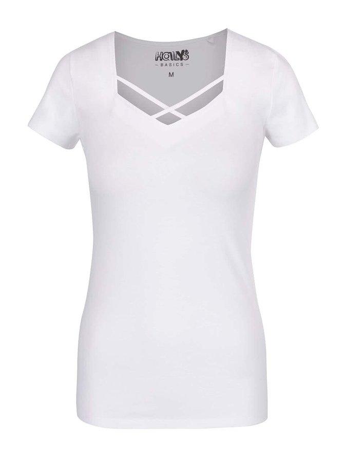 Tricou alb Haily's Tessa cu decolteu în V