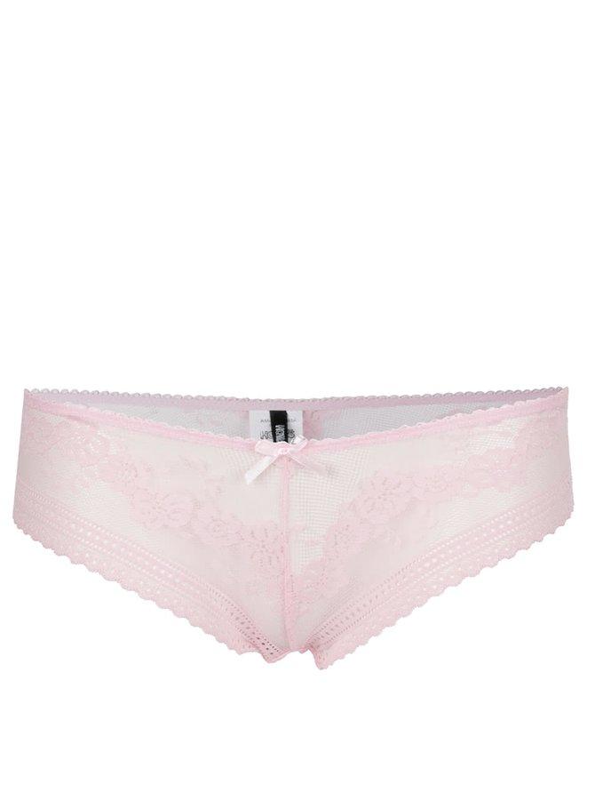 Chiloți roz pal Haily's Lace din dantelă