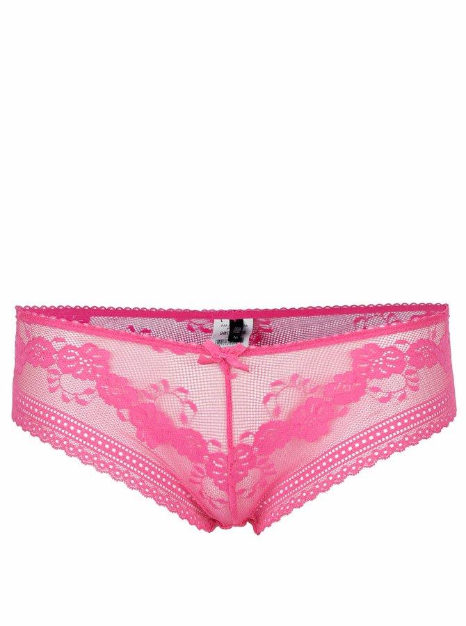 Růžové krajkové kalhotky Haily's Lace