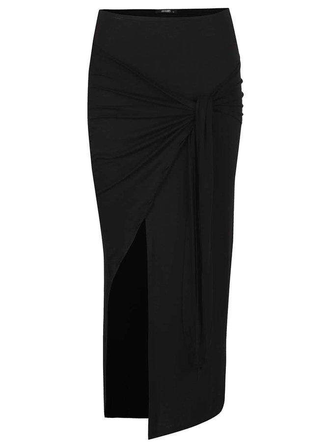 Černá maxi sukně s rozparkem Haily's Racie