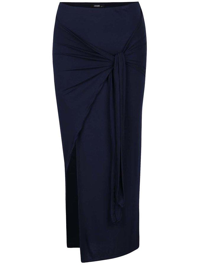 Tmavě modrá maxi sukně s rozparkem Haily's Racie