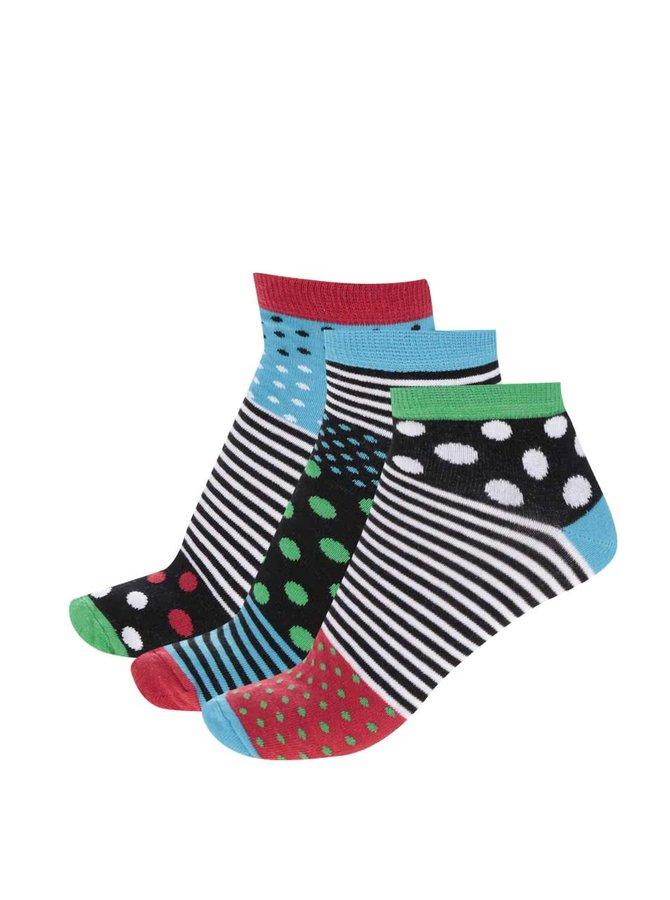 Sada tří pánských kotníkových ponožek Oddsocks Liner
