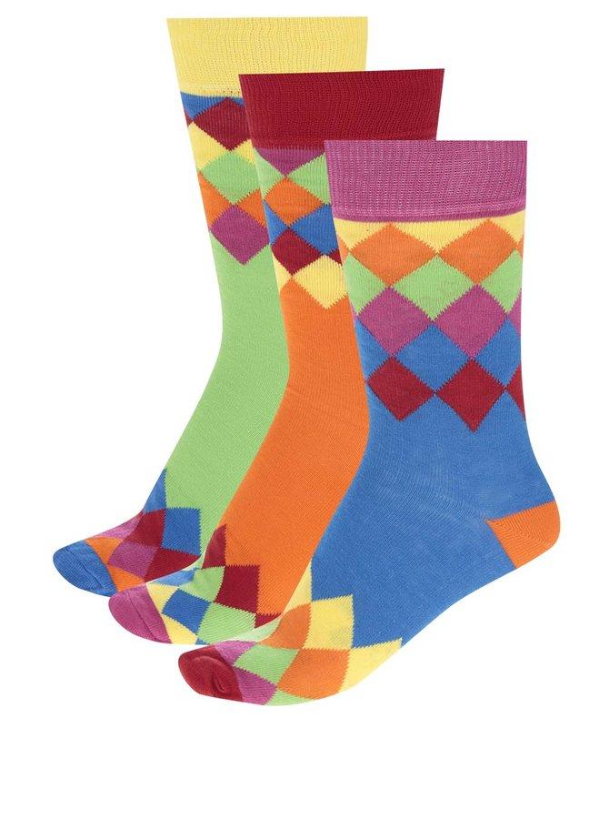 Sada tří pánských vzorovaných ponožek ve svítivé barvě Oddsocks Charlie