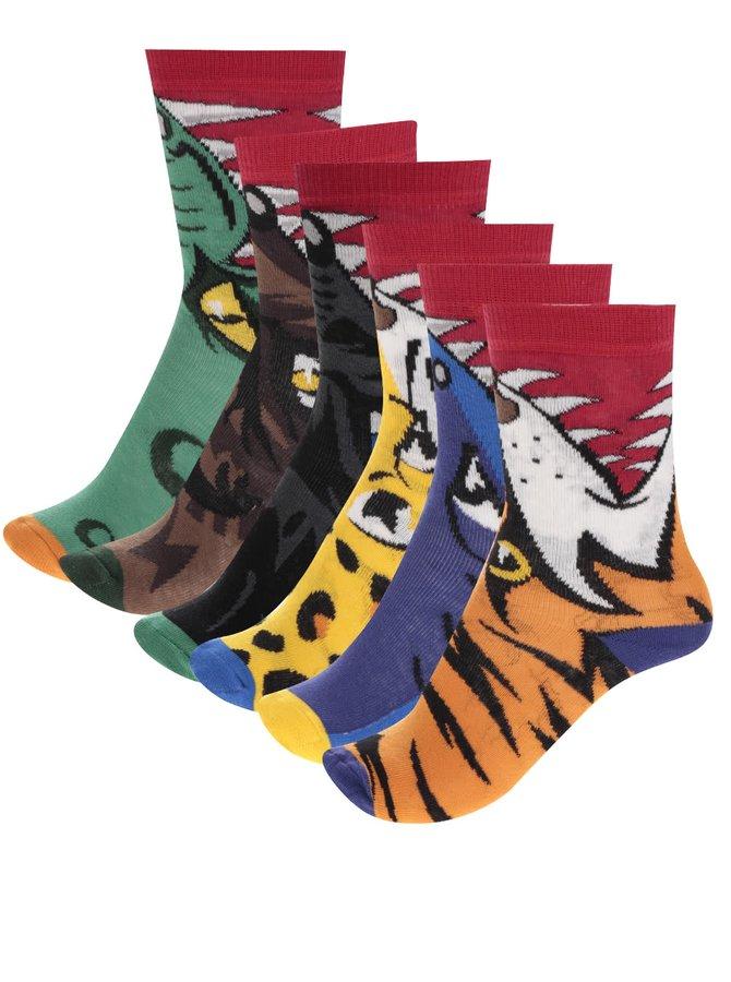 Set de 6 șosete multicolore Oddsocks Snappers cu model