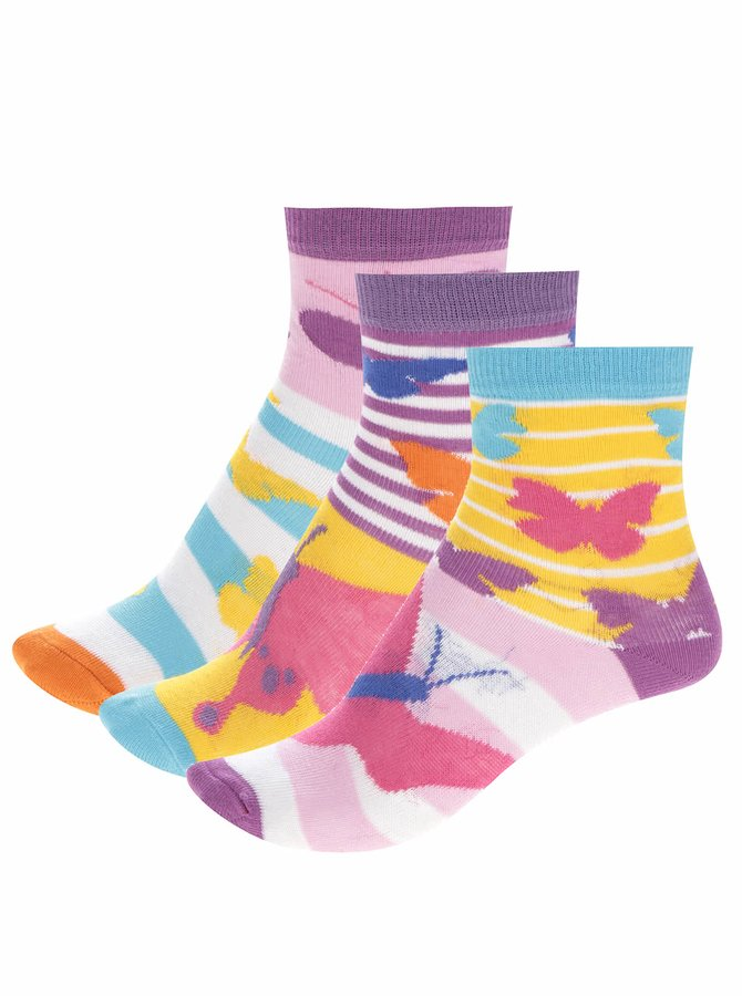 Set de 3 șosete multicolore Oddsocks Butter cu model
