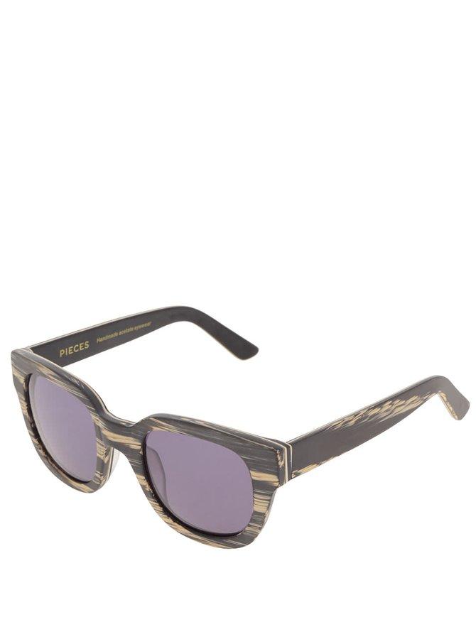Ochelari de soare maro Pieces Goyo