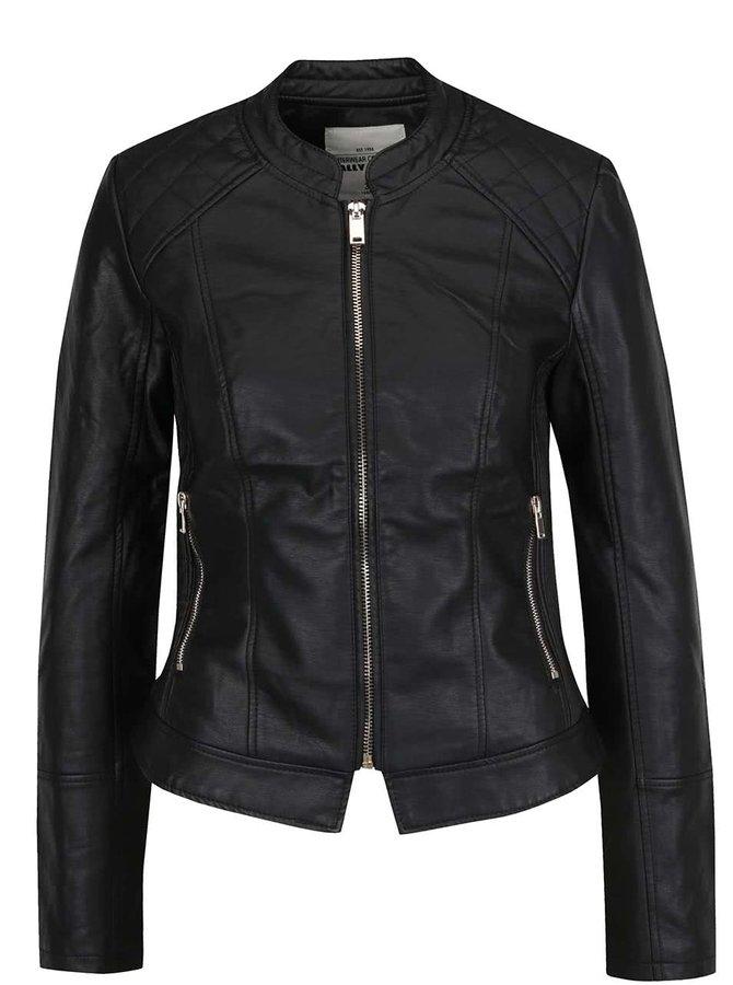 Jachetă neagră TALLY WEiJL din piele sintetică