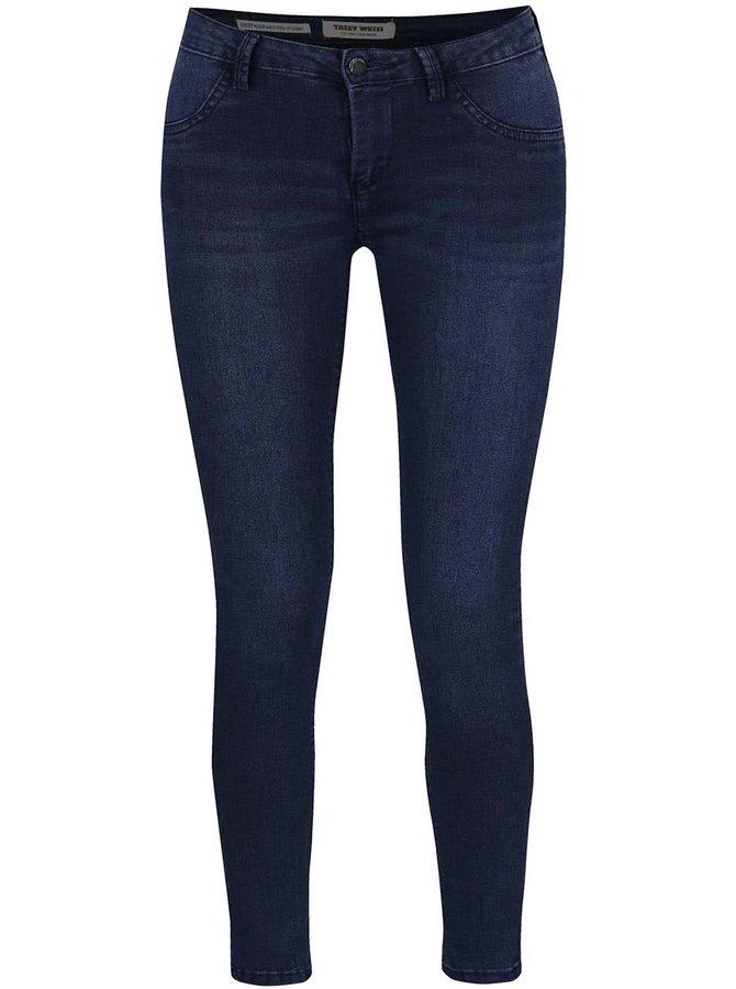 Tmavě modré push up skinny džíny TALLY WEiJL
