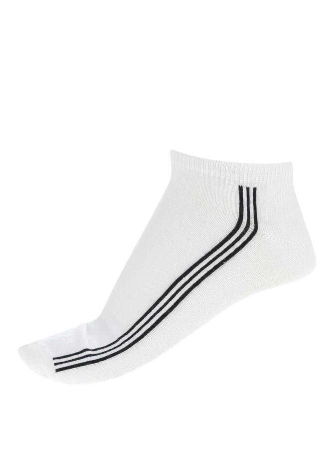 Bílé pánské kotníkové ponožky s pruhy Bellinda In-Shoe