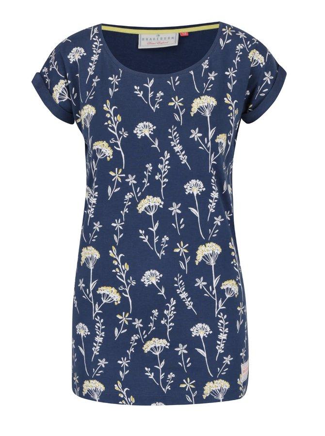 Tmavě modré tričko s potiskem květin Brakeburn