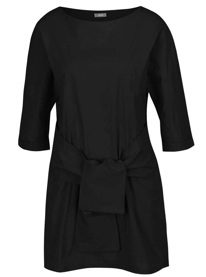 Rochie neagră ZOOT cu panglici oversized
