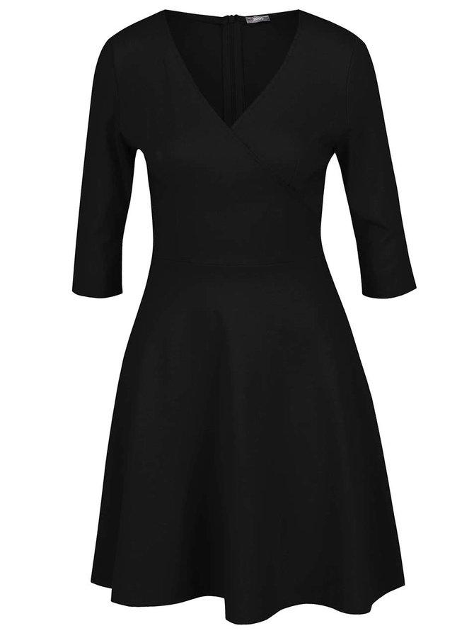 Rochie neagră ZOOT cu decolteu petrecut în V