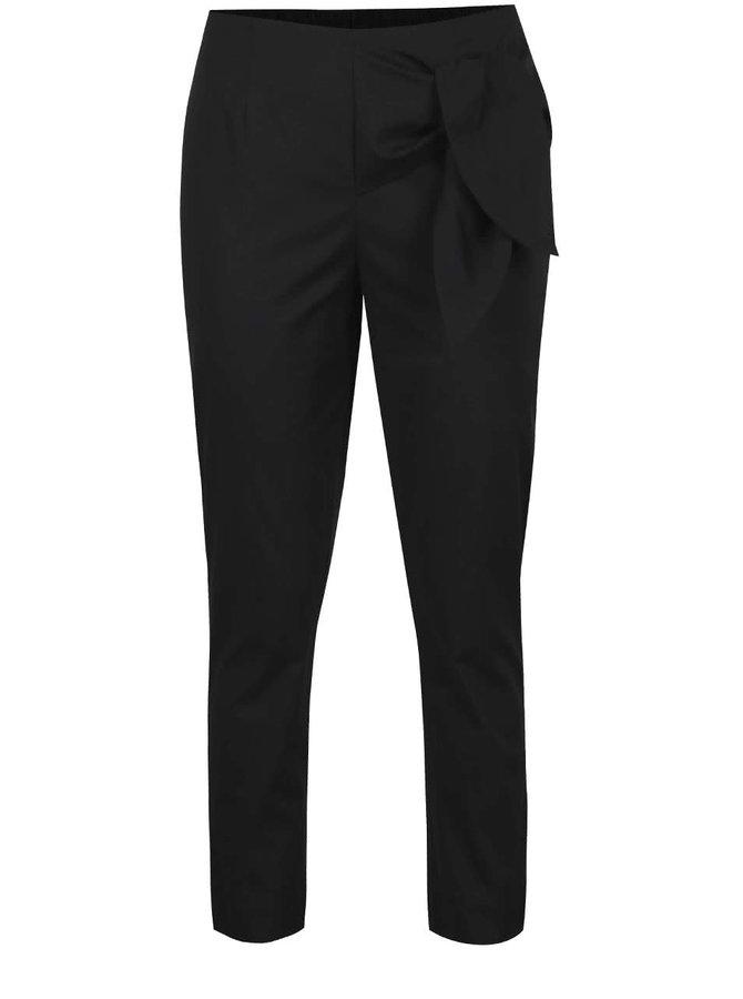 Černé kalhoty s vázáním na boku VERO MODA Solid