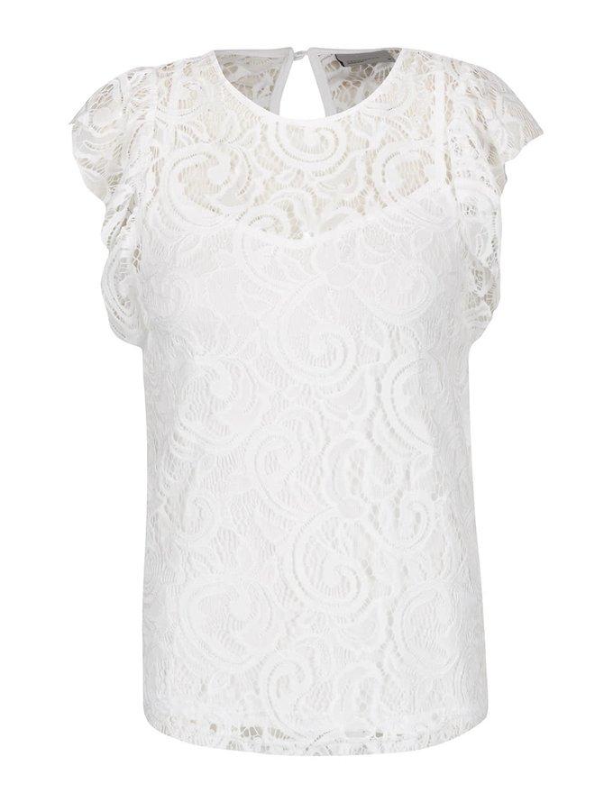 Bluză albă VERO MODA Thea din dantelă
