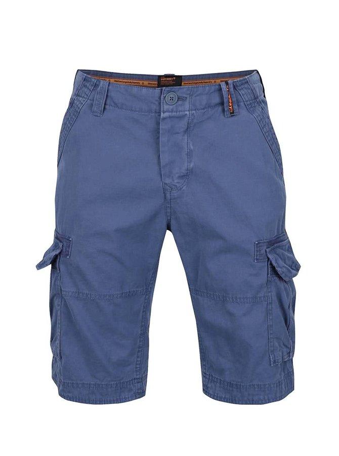 Pantaloni scurți albaștri Superdry din bumbac