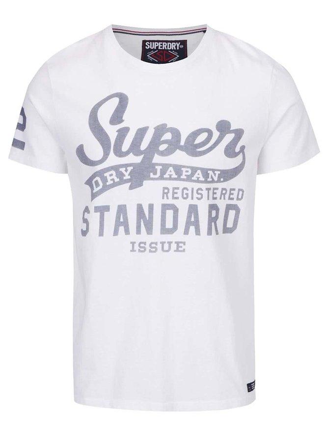Bílé pánské triko s potiskem Superdry