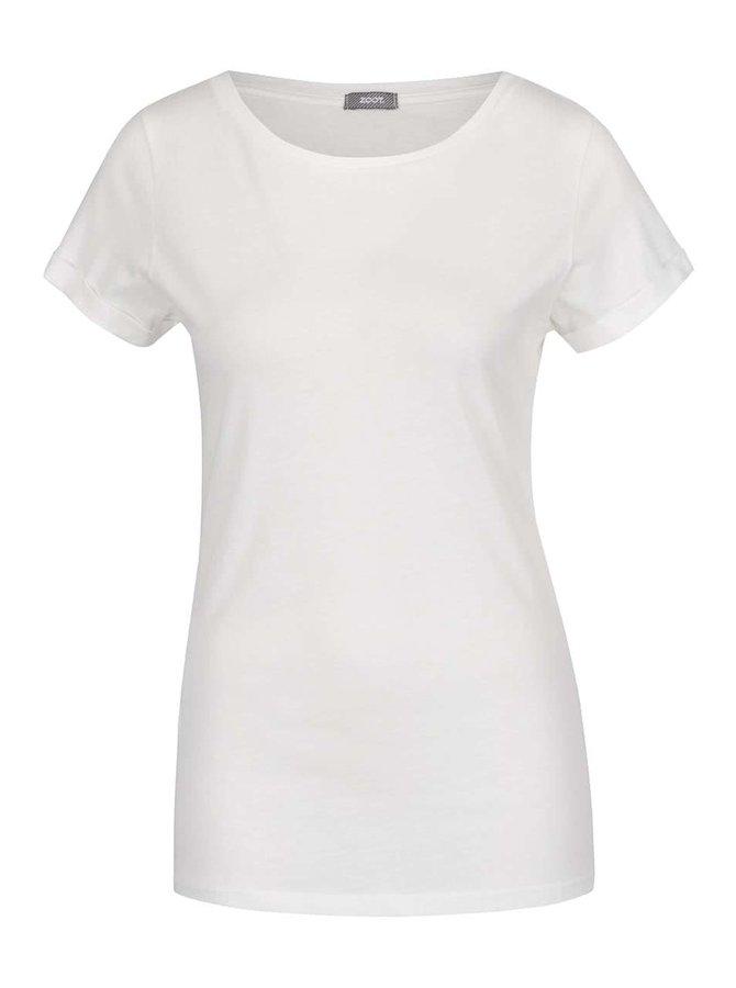 Tricou basic alb fildeș ZOOT din bumbac