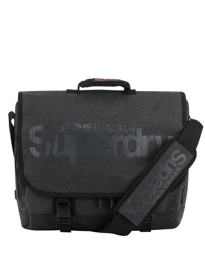 Šedá pánská taška na notebook Superdry