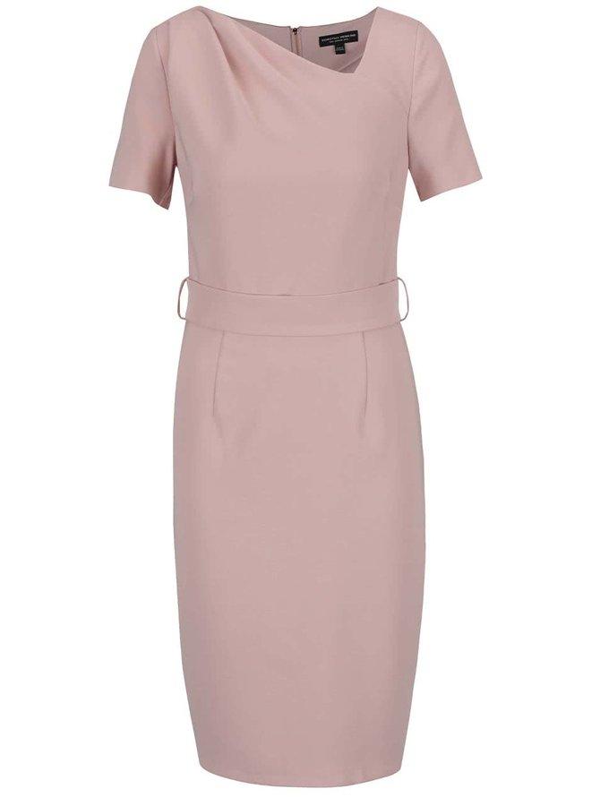 Starorůžové šaty detaily v růžovozlaté barvě Dorothy Perkins
