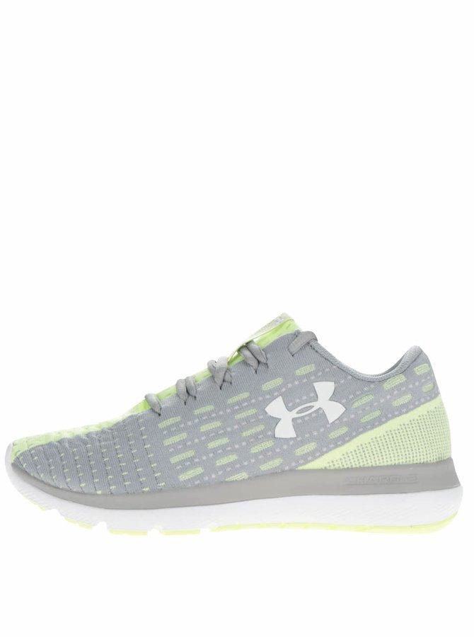 Pantofi sport verde cu gri Under Armour UA Threadborne Slingflex pentru femei