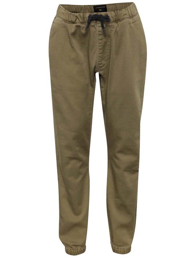 Pantaloni bej Quiksilver cu șiret