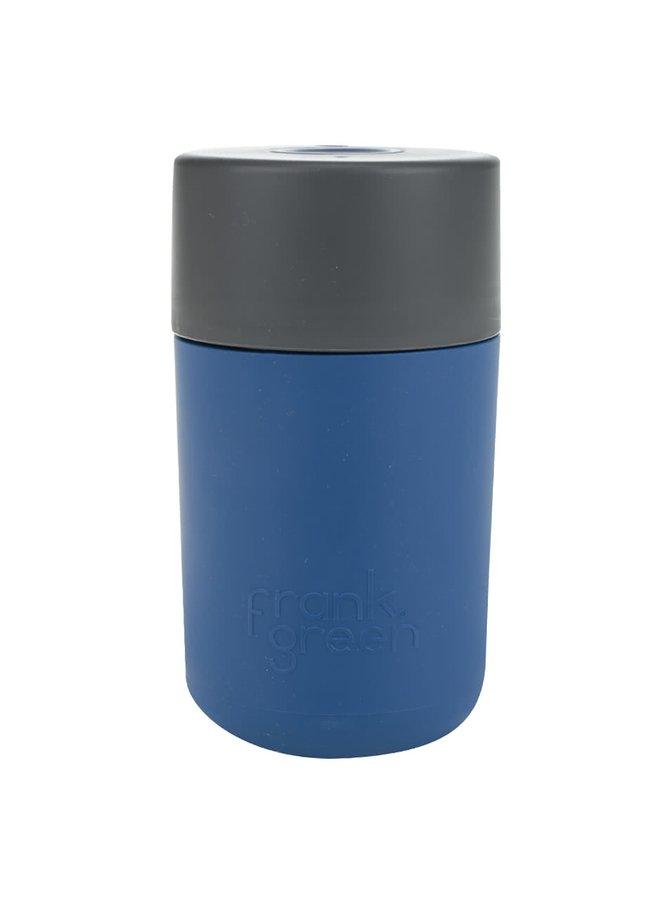 Tmavě modrý SmartCup s šedým víčkem Frank Green 340 ml