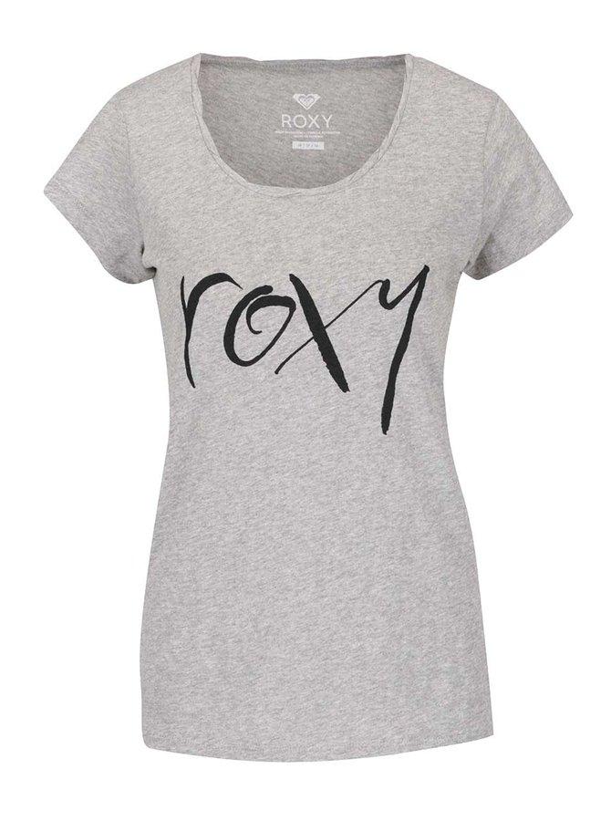 Tricou gri Roxy Bobby cu print