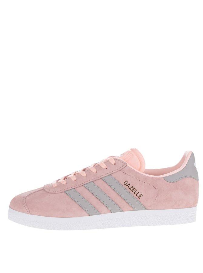 Světle růžové dámské semišové tenisky adidas Originals Gazelle