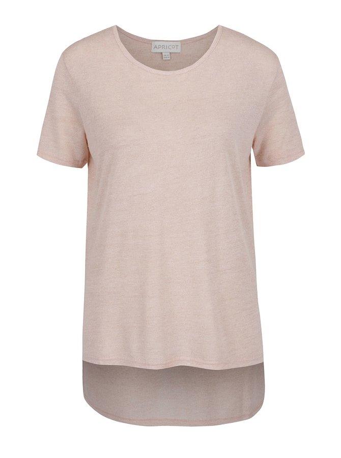 Bluză roz deschis Apricot cu croi asimetric