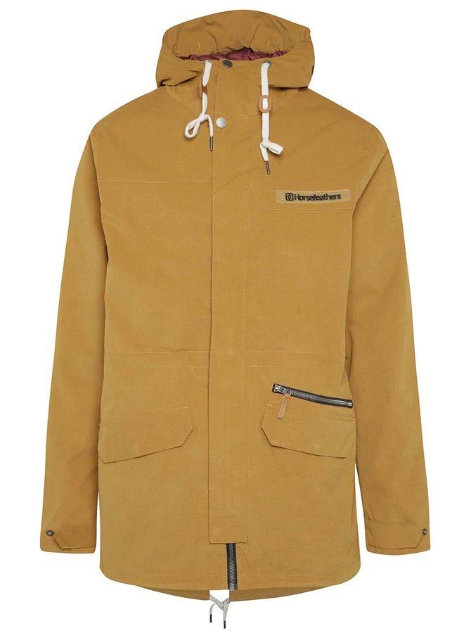 Jachetă maro Horsefeathers Sanchez cu glugă
