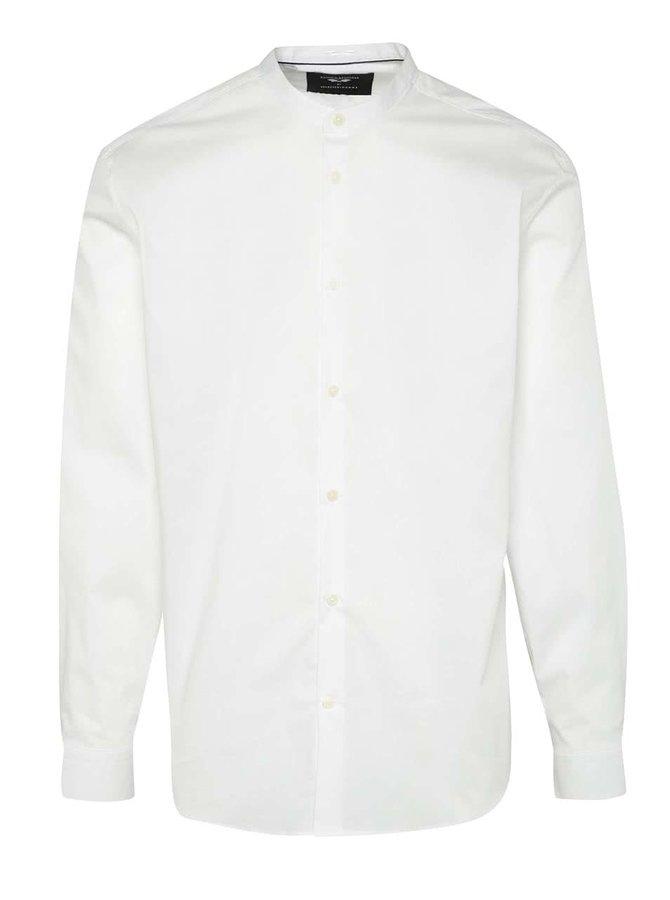 Bílá košile bez límečku Selected Homme AB One