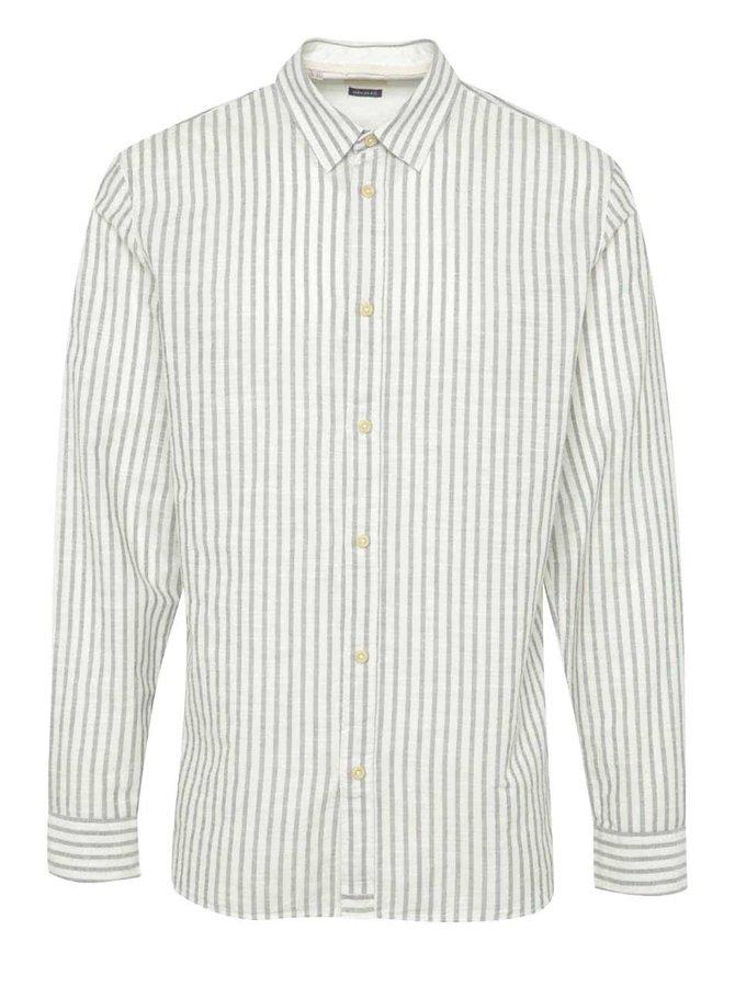 Krémová pruhovaná košile Selected Homme Two Zayn