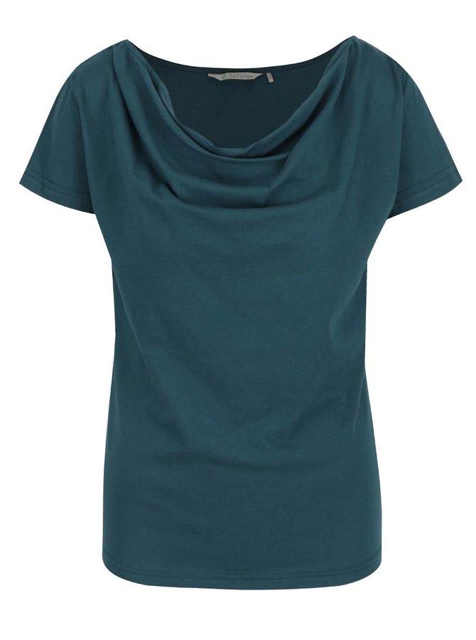 Tmavě zelené tričko s vodovým výstřihem Skunkfunk