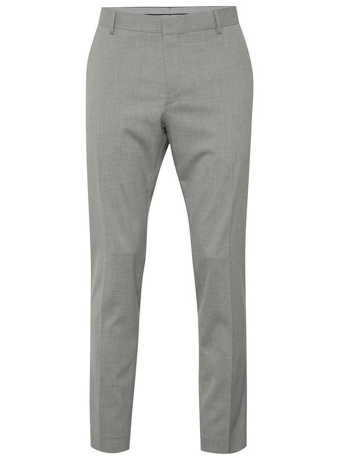 Světle šedé oblekové kalhoty Selected Homme Done-Summerpeak