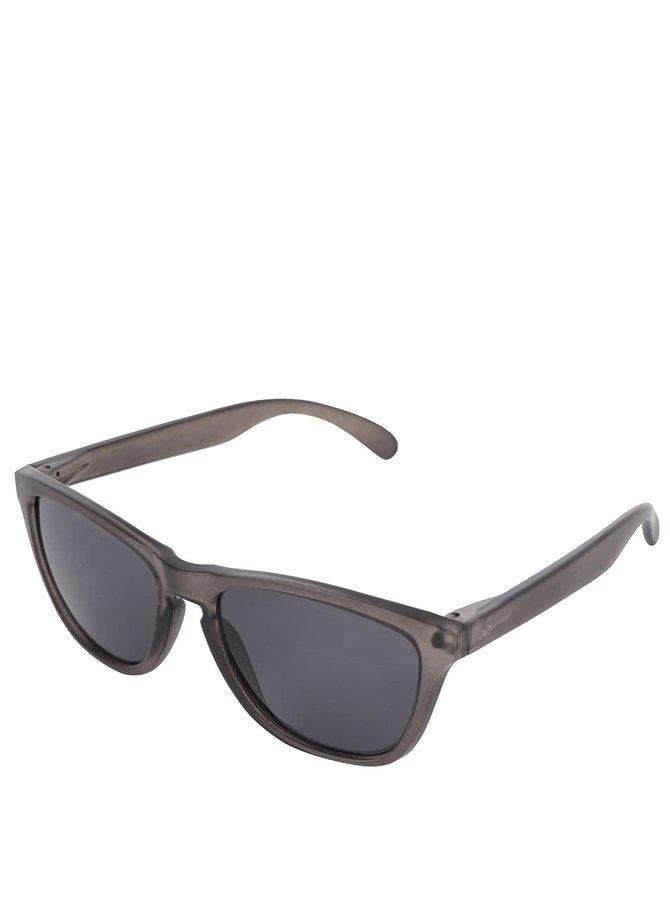 Tmavě šedé sluneční brýle Jack & Jones Leo