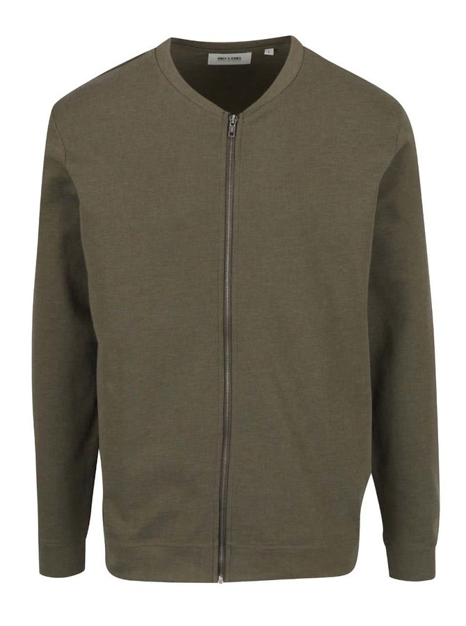 Khaki bomber mikina ONLY & SONS Manor