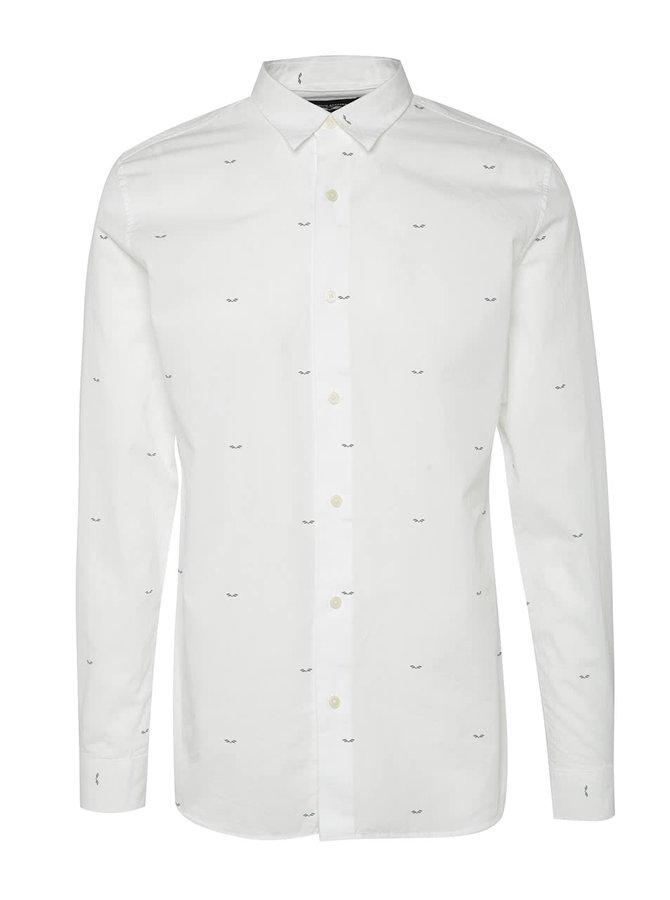 Bílá neformální košile s potiskem Selected Homme AB
