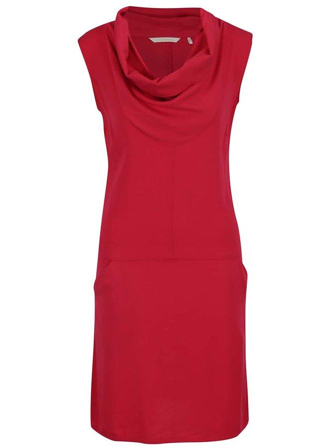 Červené šaty s límcem a kapsami Skunkfunk