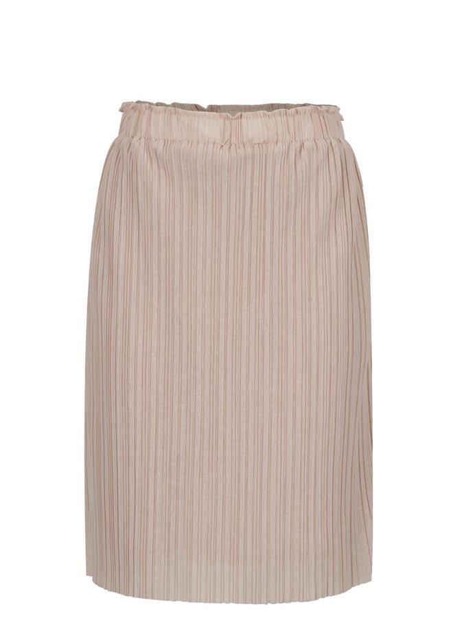 Béžová plisovaná sukně VERO MODA Mira