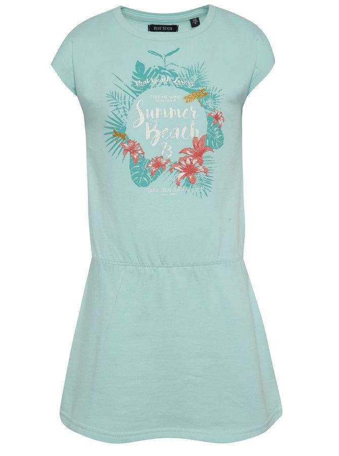 Světle modré holčičí šaty s potiskem Blue Seven