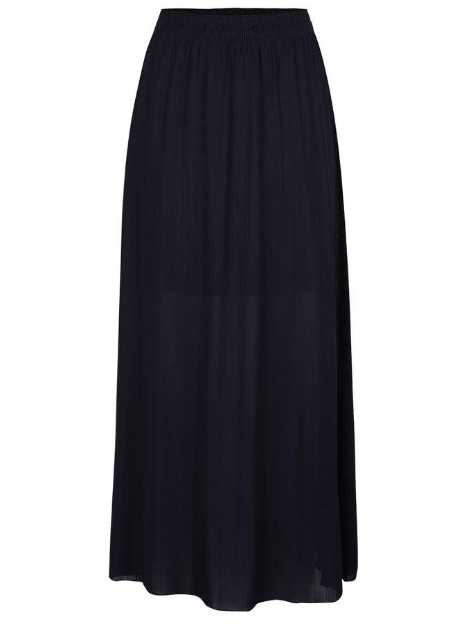 Tmavě modrá maxi sukně ONLY Olivia