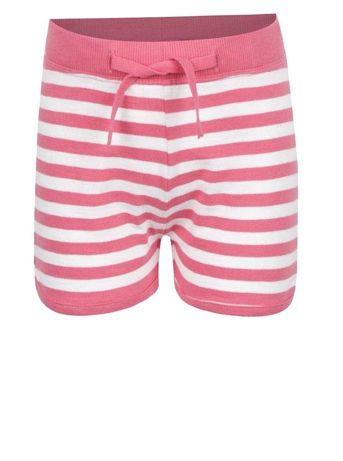 Pantaloni scurți crem & roz name it Tisa din bumbac cu model în dungi pentru fete