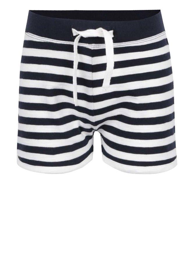 Pantaloni scurți negru & crem name it Tisa din bumbac cu model în dungi pentru fete