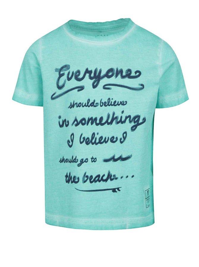 Tricou verde deschis name it Zarst din bumbac cu print pentru băieți