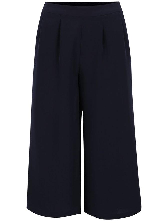 Tmavě modré culottes kalhoty ONLY Charlotte