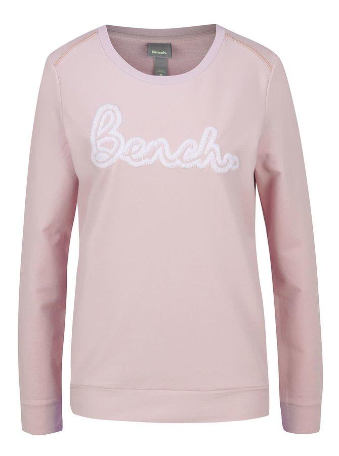 Bluză roz pal Bench cu print