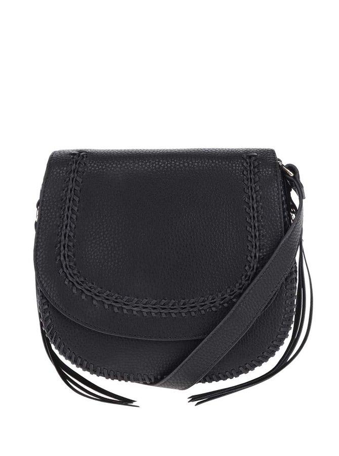 Černá crossbody kabelka s třásněmi ALDO Miroissi