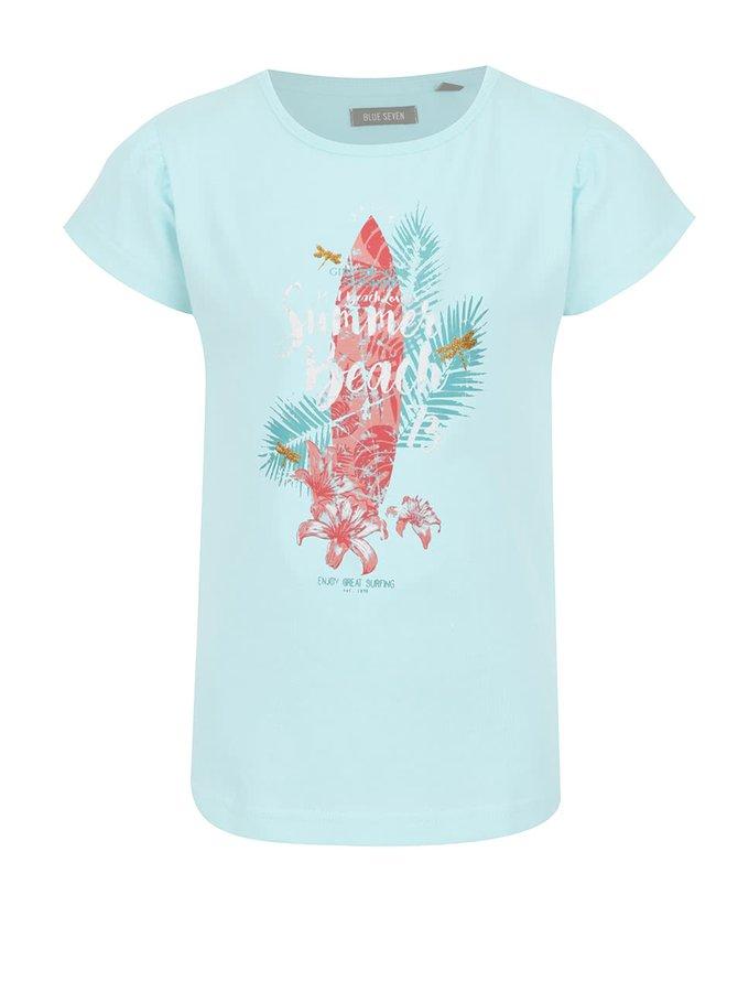 Světle modré holčičí tričko s potiskem Blue Seven